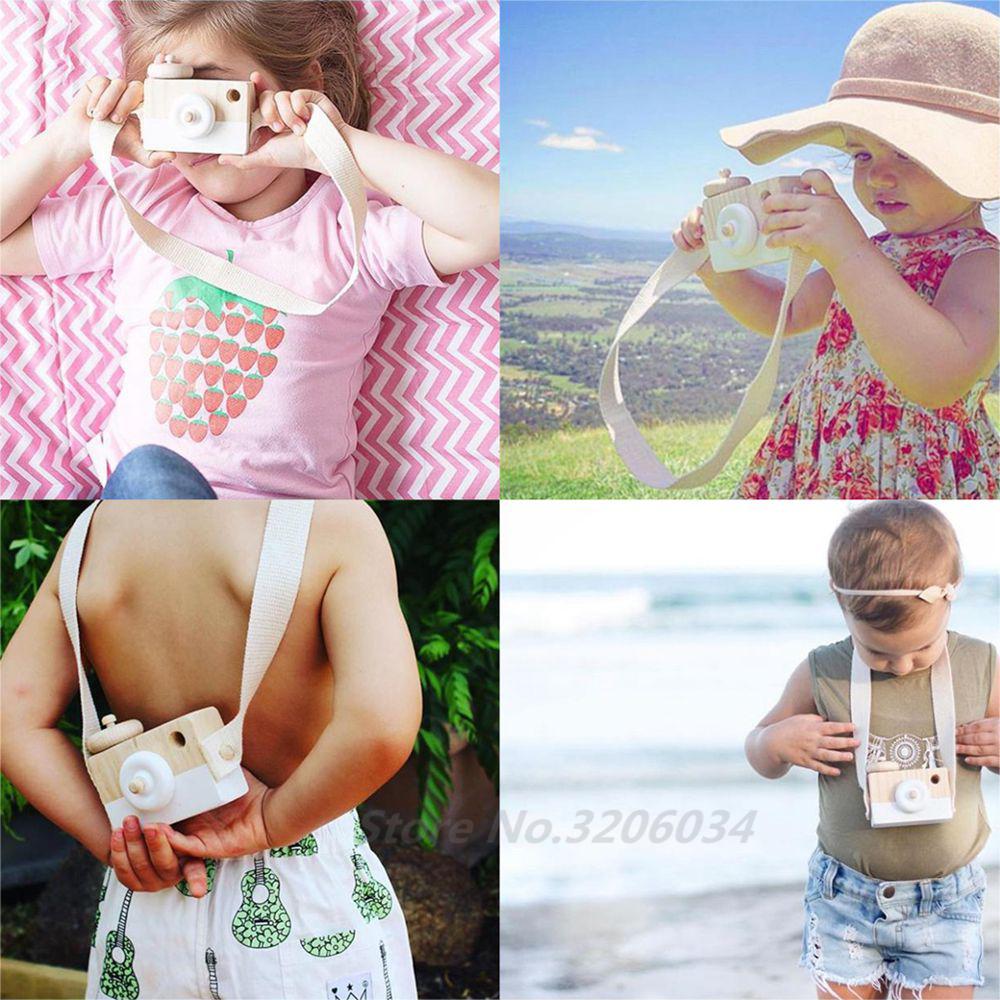 [해외]장난감 카메라 귀여운 만화 아기 나무 장난감 키즈 크리 에이 티브 목 카메라 사진 장식 어린이 놀이 집에 도구를 들다/Toy Camera Cute Cartoon Baby Wooden Toy Kids Creative Neck Camera Photography Pr