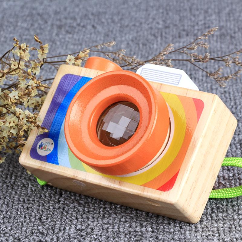 [해외]Zhenwei 나무 장난감 장식 CameraMagic 만화경 꿀벌 눈 다각형 렌즈 아기 어린이를교육 장난감 선물/Zhenwei Wooden Toy Decoration CameraMagic Kaleidoscope Bee Eye Polygon Lens Educati