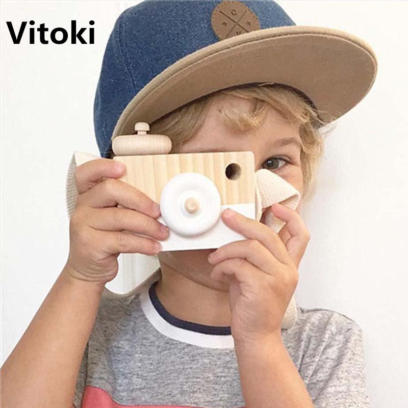 [해외]2017 어린이를귀여운 나무 카메라 완구 패션 의류 액세서리 블루 핑크 화이트 민트 그린 퍼플 크리스마스 선물/2017 Cute Wooden Camera Toys Ornament for Children Fashion Clothing Accessory Blue P