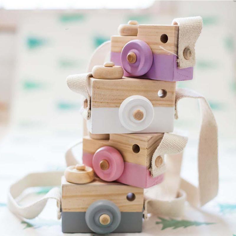 [해외]나무 카메라 장난감 아기 아이 귀여운 크리스마스 선물 아이 크리 에이 티브 목 카메라 사진 인기있는 집 장식 장난감/Wooden Camera Toy Baby Kids Cute Xmas Gift Kids Creative Neck Camera Photography