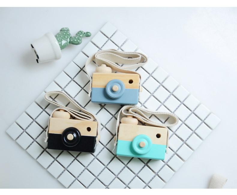 [해외]귀여운 어린이 장난감 시뮬레이션 나무 카메라 크리 에이 티브 손으로 만든 장난감 사진 소품 장식 장식품/Cute children&s toys  Simulation wooden camera  Creative hand-made toy  Photo props  Dec