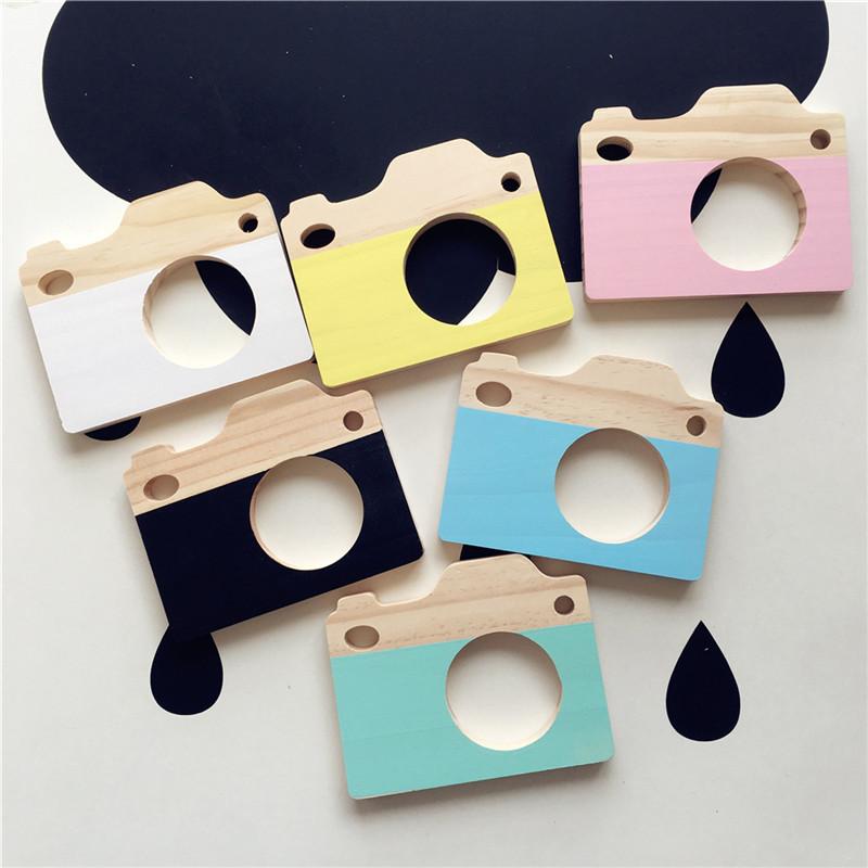 [해외]귀여운 나무 카메라 완구 장식 어린이 가구 나무 장식 교육 안전 안전한 자연의 장난감 사진은 최고의 선물을 소품/Cute Wooden Camera Toys Decor Children Furnishing Wood Ornament Kids Educational Sa