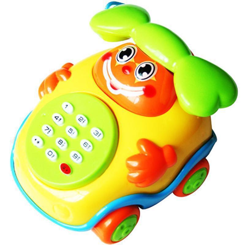 [해외]ZTOYL 아기 어린이 교육 장난감 음악 만화 전화 Developmental 소년과 소녀 아이들 선물 장난감 전기 전화 기계 모델/ZTOYL Baby Children Educational toys Music Cartoon Phone Developmental Bo
