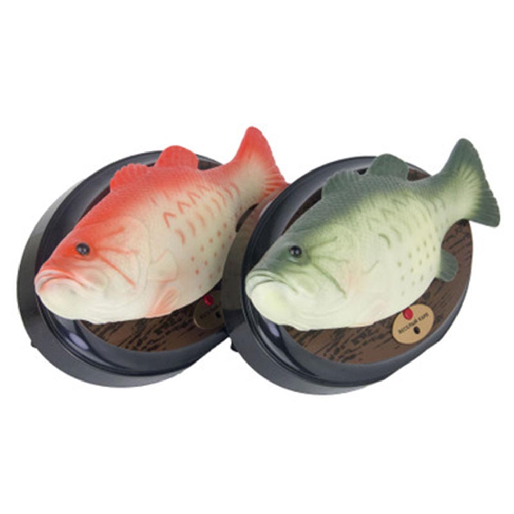 [해외]가벼운 프로젝션 음악 춤 락 티알 eletric 물고기 보컬 장난감 한 개/Light projection music dancing rocking tial eletric fish vocal toy one pcs