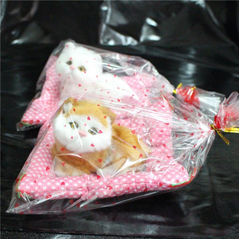[해외]?슈퍼 Kawaii 시뮬레이션 고양이 플러시 장난감 프레스 음침 새끼 고양이 인형 아동 장식 생일 선물/ Super Kawaii Simulation Cats Plush Toys Press Sounding Kitten Stuffed Doll Childrens De