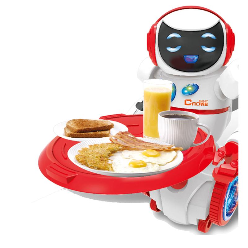 [해외]새로운 지능형 음성 제어 기능 미니 로봇 장난감 상호 작용 장난감 웨이터 로봇 키즈 사랑 깜박임과 울리는 장난감/New the intelligent voice control Mini robot toy Interactive toys Feeding Waiter ro