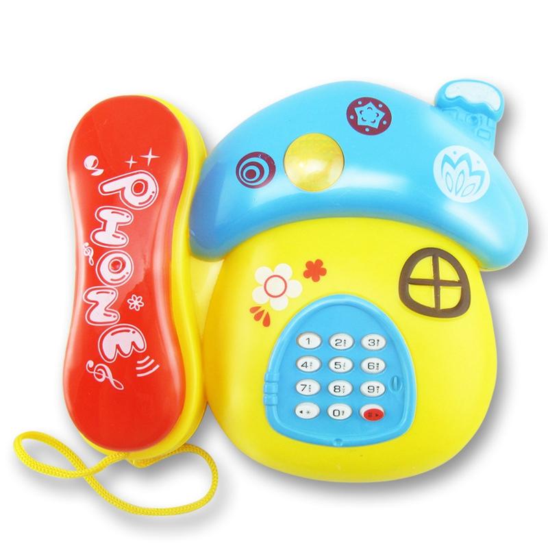 [해외]부스 핫 세일즈 어린이 & 유아 교육용 유아 장난감 아기 버섯 음악 노예 만화 폰/Booth hot sale children&s educational early childhood phone toys baby mushroom music glow cartoo