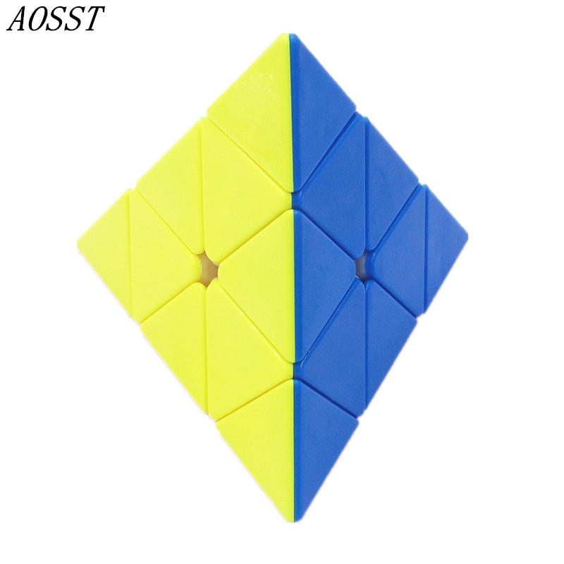 [해외](AOSST) 피라미드 매직 큐브 클래식 스피너 장난감 콘 큐브 큐브 스페셜 큐브 무 스티커 무지개 교육 완구/(AOSST) Pyramid Magic Cube Classic Spinner Toy Cone Puzzle Cubes Special shaped Cube