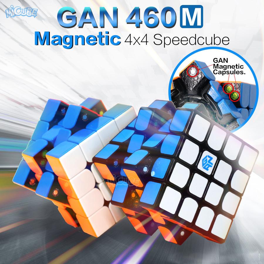 [해외]GAN 460 M 자기 큐브 4x4 매직 큐브 4x4x4 Gan 460M 속도 Gan460 M Cubo Magico 4 * 4 전문 퍼즐 Stickerless Gan Cube/GAN 460 M Magnetic Cube 4x4 Magic Cube 4x4x4 Gan