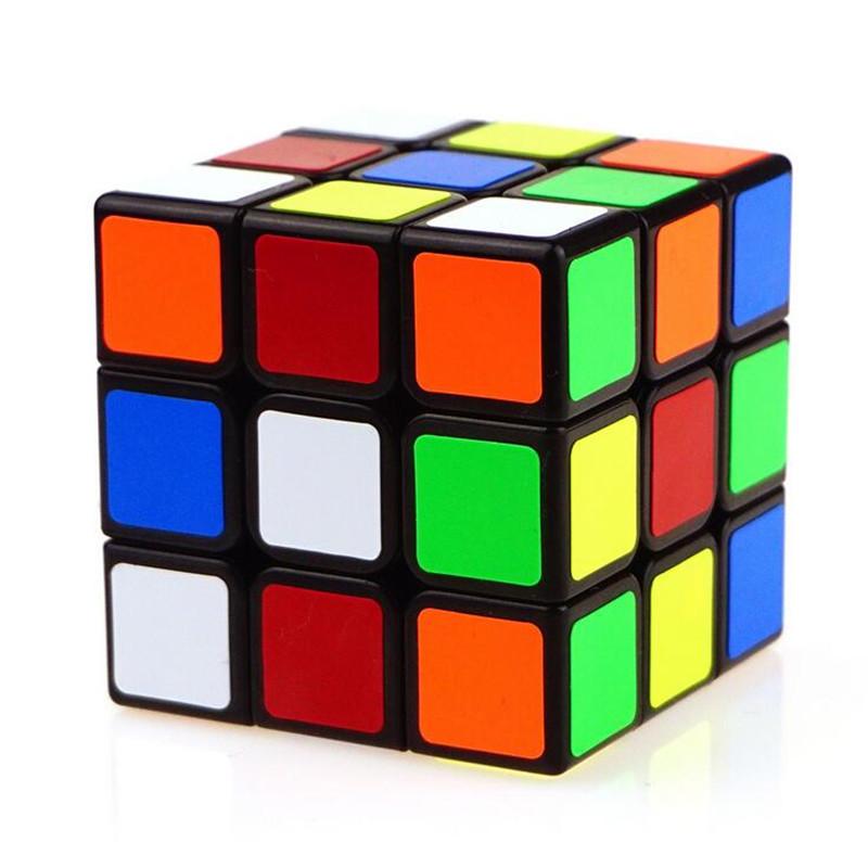 [해외]1PCS 클래식 3x3x3 ABS 스티커 블록 속도 매직 큐브 다채로운 퍼즐 큐 보 Magico 완구/1Pcs Classic 3x3x3 ABS Sticker Block  Speed Magic Cube Colorful Puzzle Cubo Magico Toys