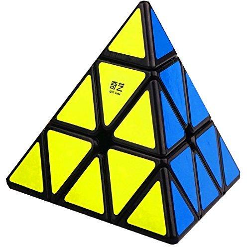 [해외]QIyi Pyraminx Cube, 3x3 Pyraminx 스피드 큐브 Triangle Cube Puzzle 블랙/QIyi Pyraminx Cube, 3x3 Pyraminx Speed Cube Triangle Cube Puzzle Black