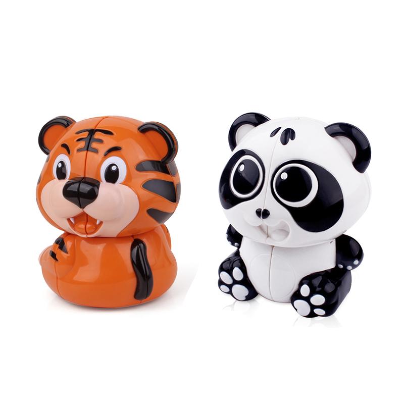 [해외]2x2 큐브 팬더 타이거 매직 스트레스 큐브 장난감 카와이 퍼즐 재미있는 장난감 아이를재미 있은 천사 안티 스트레스 큐브 몬테소리 장난감 WY76/2x2 Cube Panda Tiger Magic Stress Cube Toy Kawai Puzzle Funny To