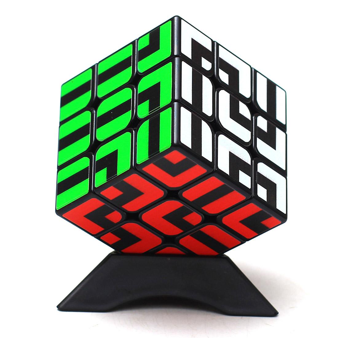 [해외]Z - 큐브 미로 유형 3x3x3 매직 큐브 퍼즐 큐브 어린이를지능형 선물 완구 - 블랙/Z-cube Maze Type 3x3x3 Magic Cube Puzzle Cube Intelligent Gift Toys For Children - Black