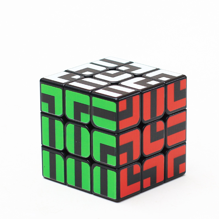 [해외]D-FantiX ZCUBE 미로 Magic Cube 3x3 퍼즐 게임 Brain Teaser Maze Cube/D-FantiX ZCUBE labyrinth Magic Cube 3x3 Puzzle Game Brain Teaser Maze Cube