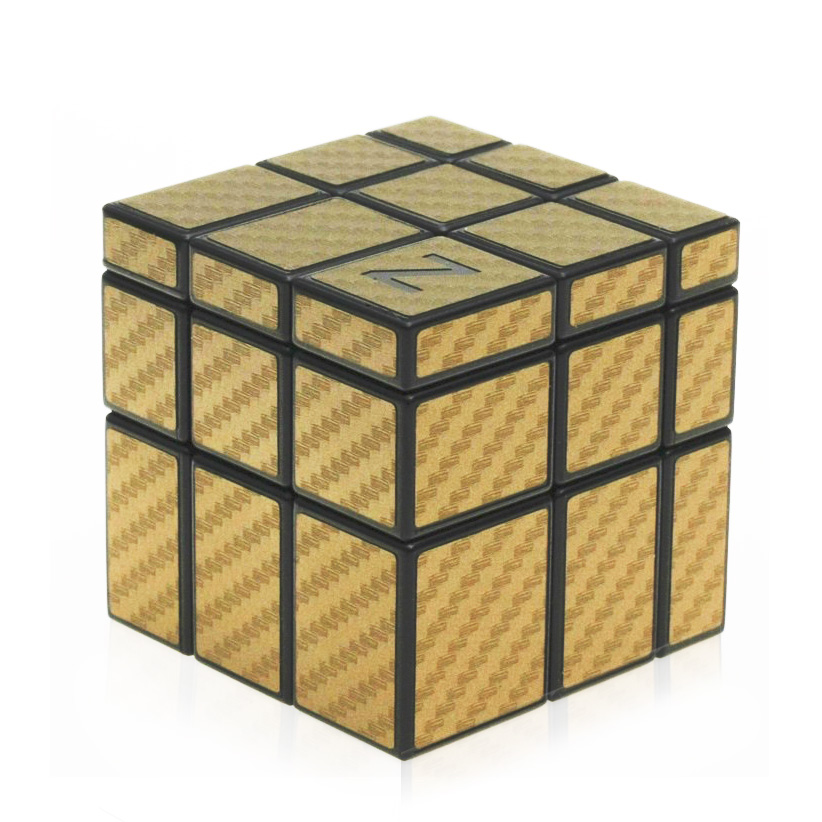 [해외]D-FantiX ZCUBE 3x3 거울 CubeGolden / Silver 탄소 섬유 스티커 Magic Cube (블랙)/D-FantiX ZCUBE 3x3 Mirror CubeGolden/Silver Carbon Fiber Sticker Magic Cube (B