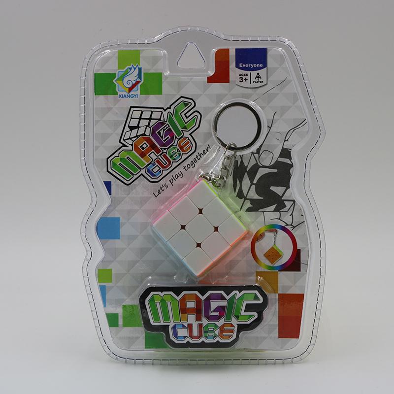 [해외]35mm 미니 키 체인 큐브 3x3 블록 퍼즐 속도 마법 큐브 다채로운 학습 및 교육 퍼즐 Cubo Magico Toys/35mm Mini key chain Cube 3x3 Block Puzzle Speed Magical Cube Colorful Learning