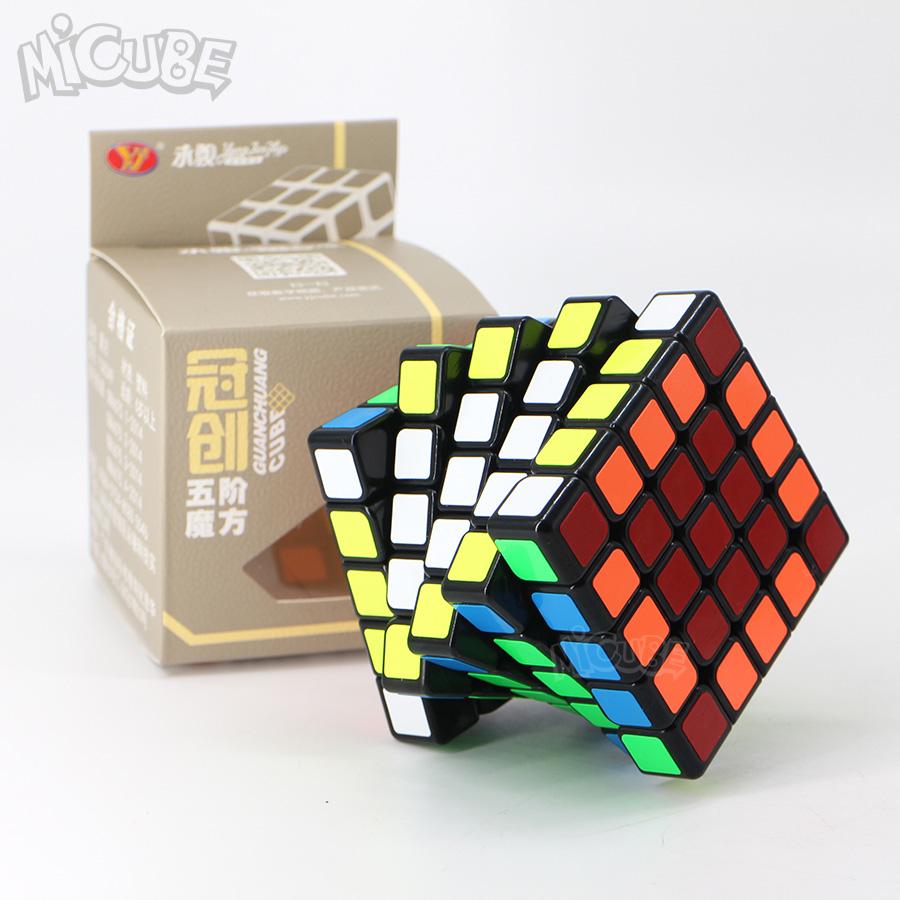 [해외]용준 Guanchuang 5x5x5 Magic Cube 5x5 스피드 큐브 퍼즐 전문 64mm 장난감 어린이 Kids Cubo Magico WCA Championship/Yongjun Guanchuang 5x5x5 Magic Cube 5x5 Speed Cube