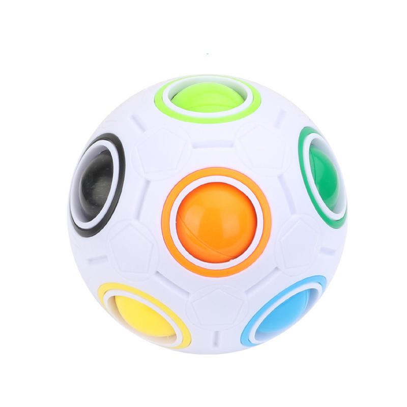 [해외]마법의 무지개 볼 크리 에이 티브 구면 매직 큐브 레인보우 퍼즐 어린이를교육 완구 선물 마법의 큐브 공/Magic rainbow ball Creative Spherical Magic Cube Rainbow Puzzles Kids Educational Toys f