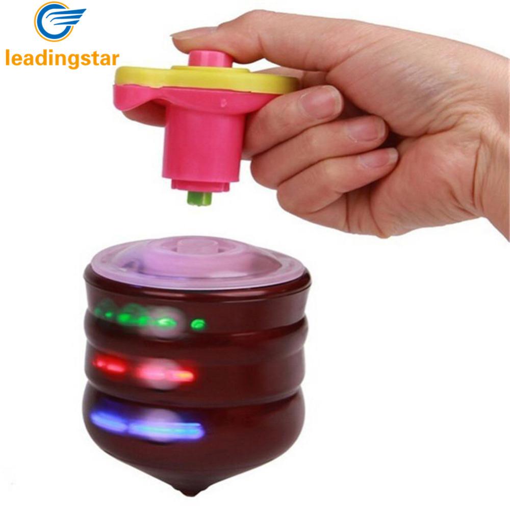 [해외]LeadingStar 어린이 LED 라이트 업 음악 나무처럼 어린이 손으로 회 전자 플라스틱 플래시 자이로 장난감 선물/LeadingStar Children LED Light-up Music Wood-Like Peg-top Hand Spinner Plastic