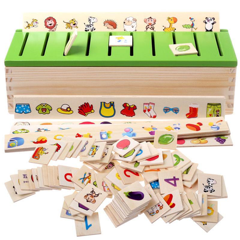 [해외]몬테소리 조기 교육 퍼즐 어린이를장난감 지능 학습 퍼즐 나무 생물 만화 3D 퍼즐/Montessori Early Educational Puzzles Toys For Children Intelligence Learning Puzzle Wooden Creature
