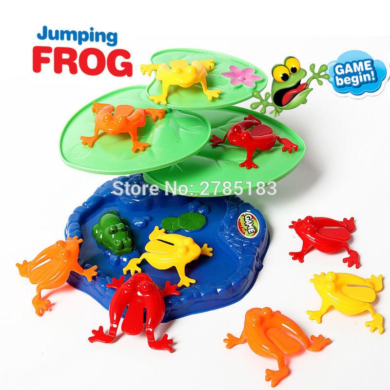 [해외]가족 재미 개구리 점프 놀이 세트 파티 팩 개구리 게임 파티 당당한 Educatinoal 2-4 인용 장난감 완구/Family fun Jumping Frogs play set9 Piece Pack Frog flipping Game Party Favors  Edu