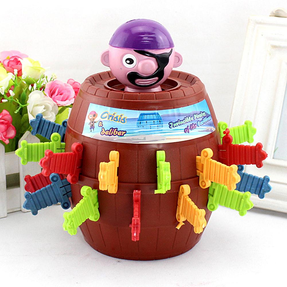 [해외]행운의 찌르는 팝업 게임 완구 참신 장난감 아이를까다로운 해적 배럴 게임/Lucky Stab Pop Up Game Toys Novelty Toy Tricky Pirate Barrel Game for Kids