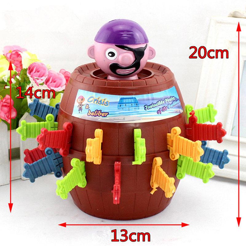 [해외]어린이와 성인을참신 까다로운 해적 배럴 게임 럭키 Stab 팝업 게임 장난감 지능형 파티 게임 장난감 어린이 선물/Novelty Tricky Pirate Barrel Game for Kids and adults Lucky Stab Pop Up Game Toys