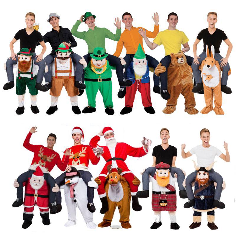 [해외]참신 타고 나 마스코트 의상 운반 재미 있은 동물 바지 옥토버 페스트 할로윈 파티 코스프레 옷 승마 완구/Novelty Ride on Me Mascot Costumes Carry Back Funny Animal Pants Oktoberfest Halloween