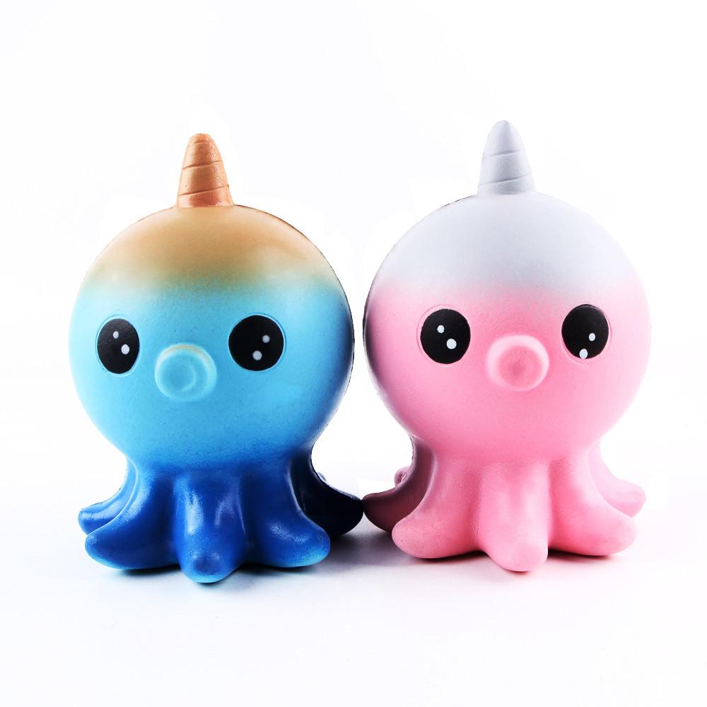 [해외]Kawaii Squishies 점보 유니콘 문어 Gags 실용 농담 장난감 Squish Antistress Squishy 느린 상승 20S71222 하락 배송/Kawaii Squishies Jumbo Unicorn Octopus Gags Practical Jok