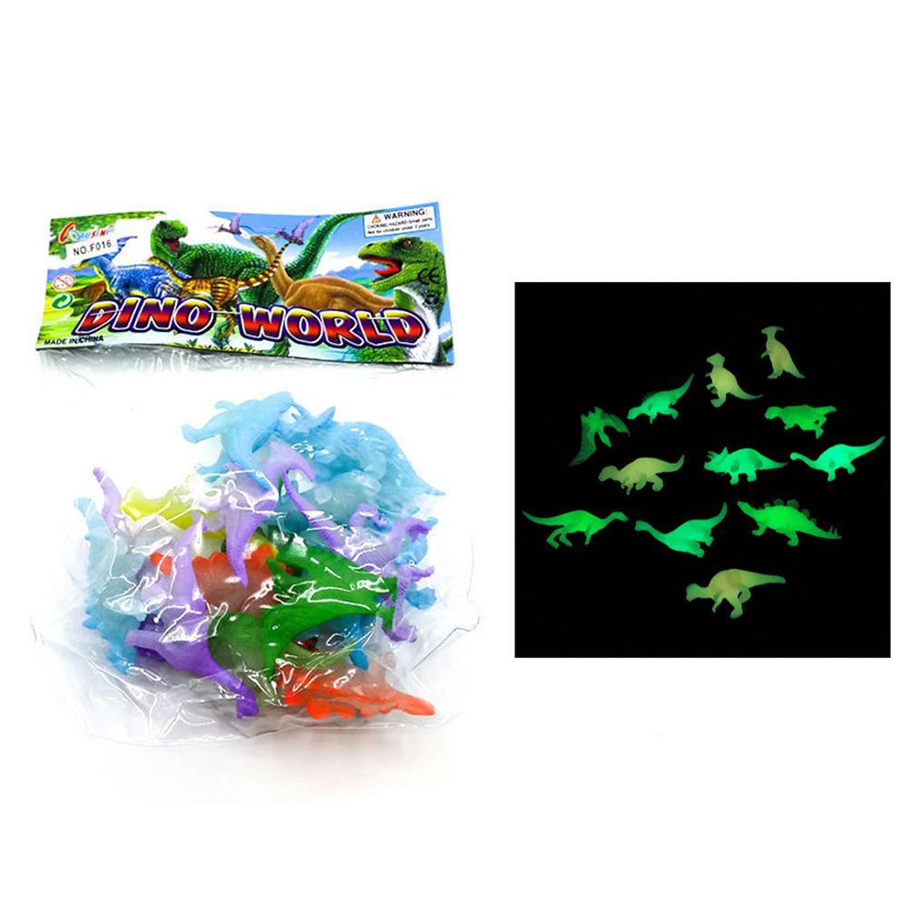 [해외]10pcs 슈퍼 재미있는 미니 발광 쥬라기 Noctilucent Dinosaur Toys 키즈 Dark Dinosaurs 액션 피규어 완구/10pcs Super funny  Mini luminous Jurassic Noctilucent Dinosaur Toys