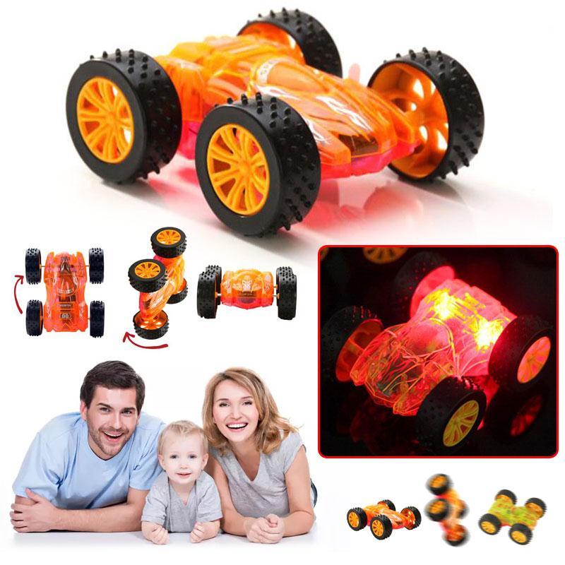 [해외]깜박이는 빛 장난감 자동차 소년 생일 선물은 빛을 위해 차를 위로 점화한다 빛 전자 장난감/Flashing Light Toy Car Boys Birthday Gift LED Light Up Cars For Glow Tracks  Electronics Toys