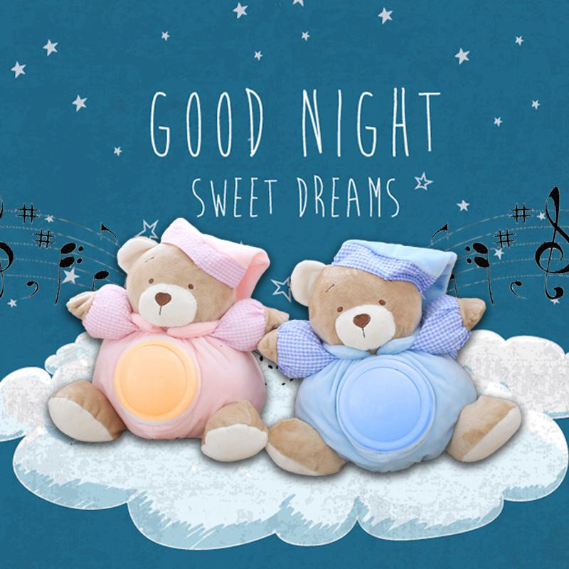 [해외]25cm Kawaii 테디 베어 뮤지컬 가벼운 인형 인형 팻 램프 잠자는 편안함 LED 나이트 라이트 Appease 베어 완구 어린이 선물 용품/25cm Kawaii Teddy Bear Musical Light Plush Dolls Pat Lamp Sleepin