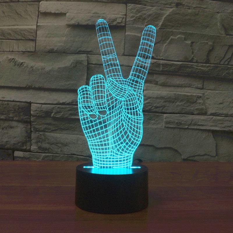 [해외]2017 대외 무역 새로운 승리 3D 7 색 터치 충전, LED 시각적 선물 대기 램프 2889/2017 foreign trade new victory 3D seven color touch charging, LED visual  gift atmosphere la