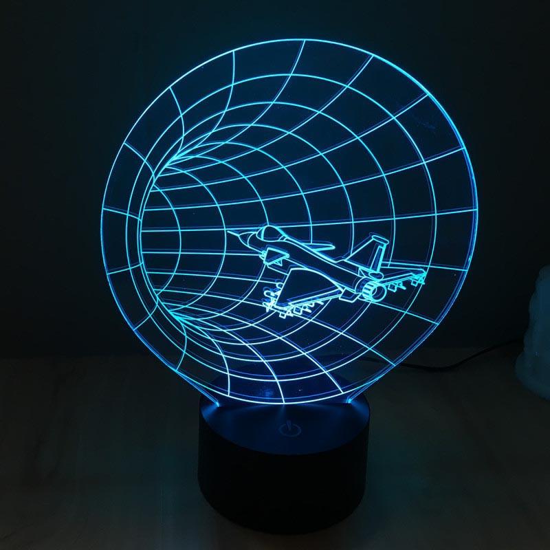 [해외]다채로운 시간 기계 3D LED 아크릴 램프 터치 스위치 다채로운 램프 에너지 절약형 스테레오 비전/Colorful time machine 3D LED acrylic lamp touch switch colorful lamp energy-saving stereo