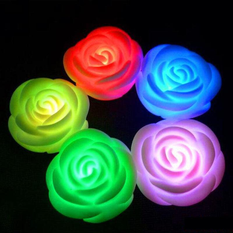 [해외]?20Pcs / lot 새로운 크리 에이 티브 선물 라이트 업 시뮬레이션 로즈 할로윈 바 파티 촛불 모양 어린이 아이 & s의 완구/ 20Pcs / lot New Creative Gift Light-up Simulation Rose Halloween Ba
