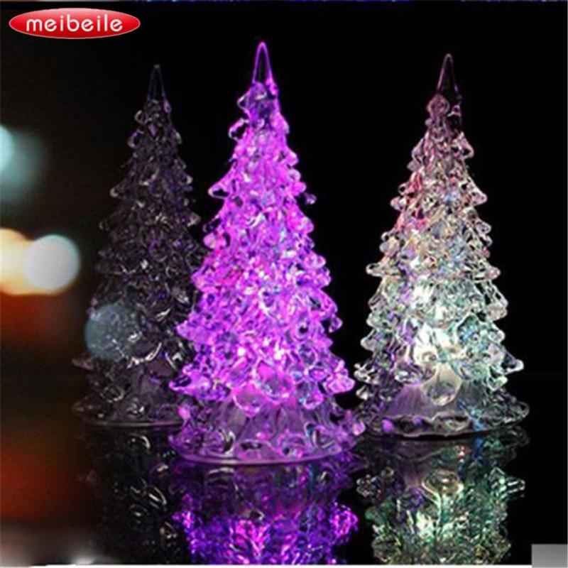 [해외]125x58mm 다채로운 얼음 크리스탈 나무 새 해 선물에 대 한 LED 데스크 장식 변경/125x58mm Colorful Ice Crystal Tree Changing LED Desk Decor For Happy New Year gift
