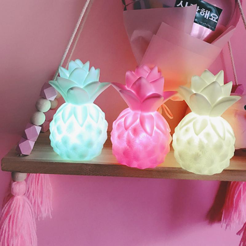 [해외]어린이를아기 밤 빛 침실 파인애플 / 아이스크림 머리맡의 주도 램프 장식 조명 수면 라이트 키즈 라이트 업 장난감 선물/Baby Night Light For Children Bedroom Pineapple/Ice Cream Bedside Led Lamp Deco