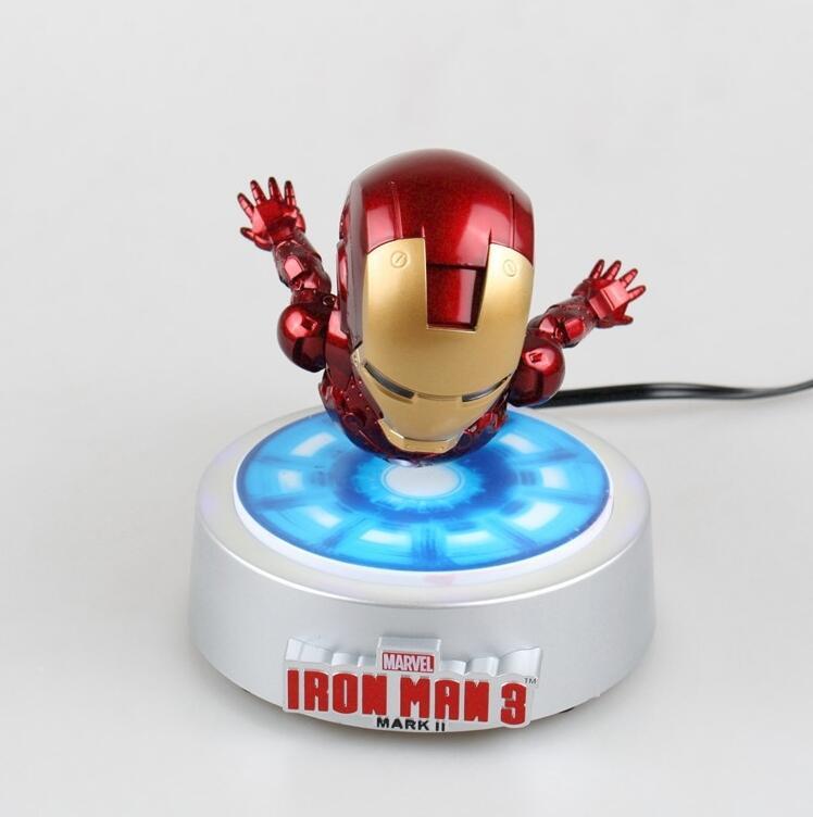[해외]【기간 한정】 회전 아이언 맨 MK 마그넷 플로팅 ver.LED 라이트 아이언 맨 액션 피규어 콜렉션 장난감/[Limited] Rotating flying Iron man MK magnetic floating ver.LED Light Iron Man Action