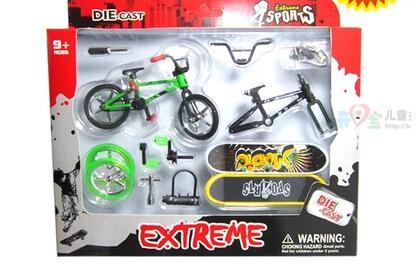 [해외]손가락 스틱 자전거 자전거 손가락 스케이트 보드 세트 스텐 트 장난감 선물 용품/Toys gifts alloy stent finger bike bicycle finger skateboard set