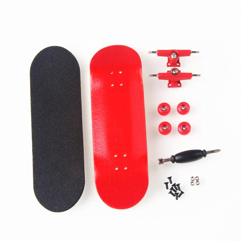 [해외]캐나다 메이플 레드 핑거 보드 전문 우드 핑거 스케이트 핑거 보드 니켈 베어링 핑거 스케이트 보드 생일 선물/Canadian Maple Red Fingerboards Professional Wood Finger Skate Finger Boards Nickel B