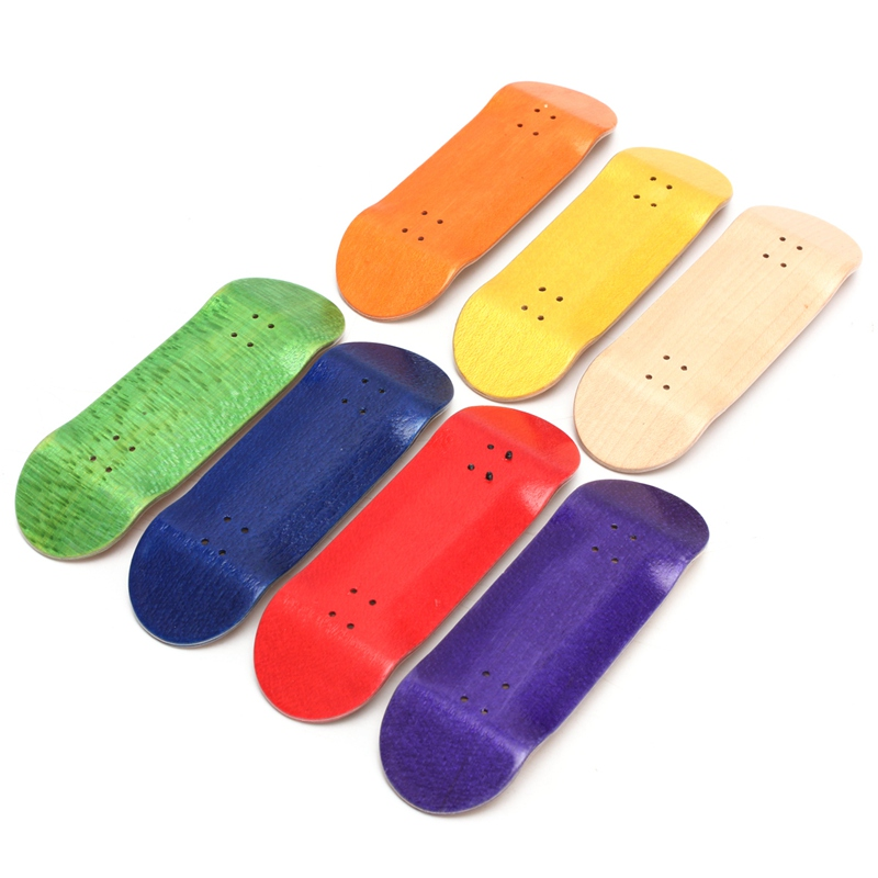 [해외]기본 나무 지판 전문 손가락 스케이트 보드 나무 FingerboarsBearings 휠 폼 테이프 세트 7 색상/Basic Wooden Fingerboard Professional Finger SkateBoard Wood FingerboarsBearings Wh
