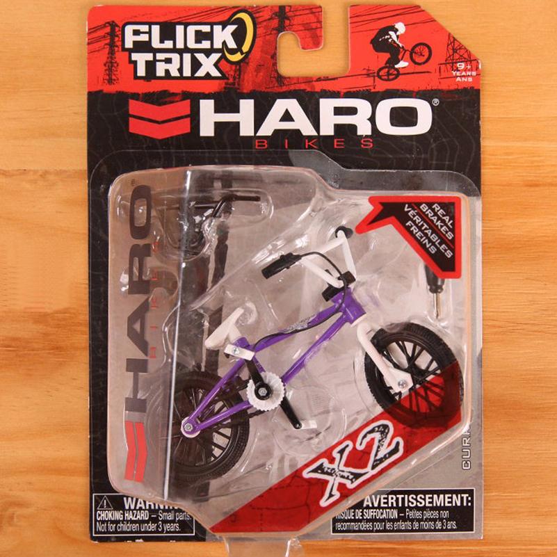 [해외]보라색 HARO 미니 손가락 BMX 자전거 톡톡 트릭 핑거 자전거 장난감 테크 데크 BMX 모델 자전거 가제 장난감 어린이를위한/Purple HARO Mini Finger BMX Bicycle Flick Trix Finger Bikes Toys Tech-Deck