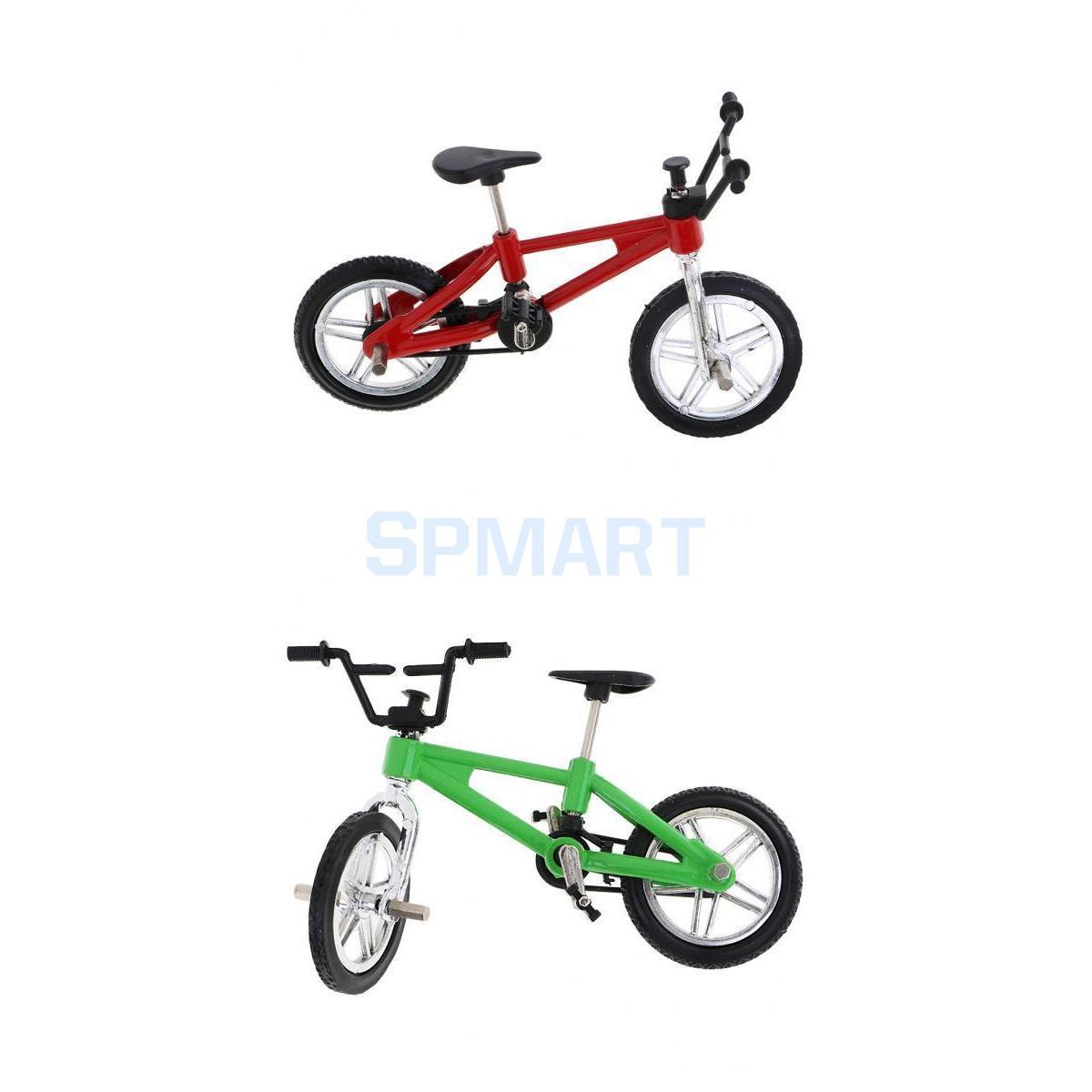 [해외]합금 산악 자전거 모형 소형 손가락 자전거 자전거 소년 장난감 선물 빨강 & amp; 녹색/Alloy Mountain Bike Model Mini Finger Bike Bicycle Boy Toy Gift Red & Green