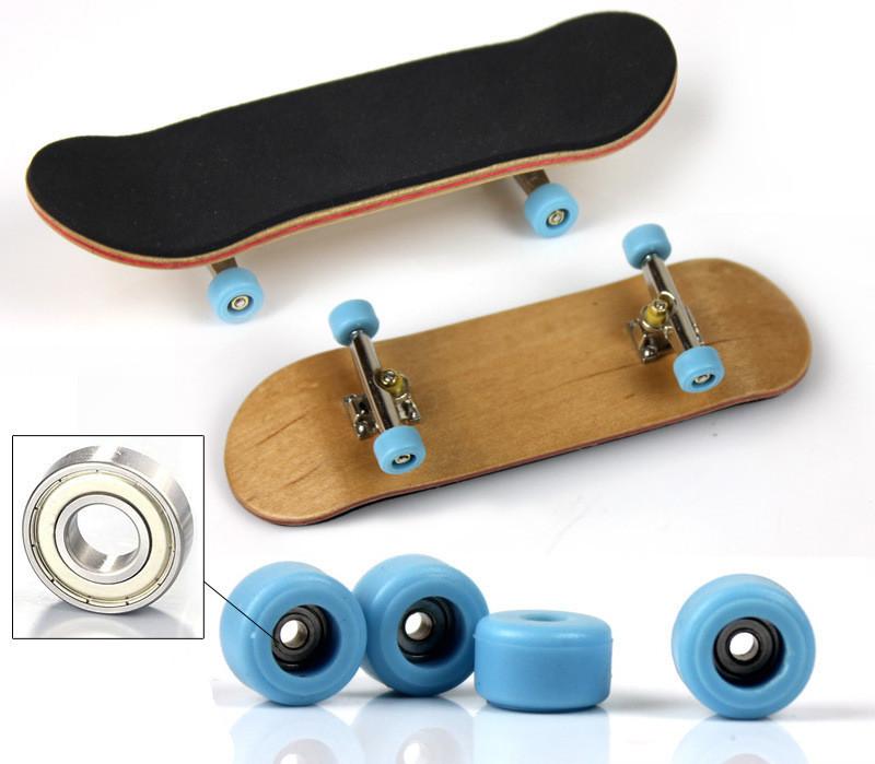 [해외]최신 전문 메이플 우드 핑거 스케이트 보드 니켈 합금 스텐트 베어링 휠 지판 성인 참신 항목 어린이 장난감 선물/Newest Professional Maple Wood Finger Skateboard Nickel Alloy Stents Bearing Wheel
