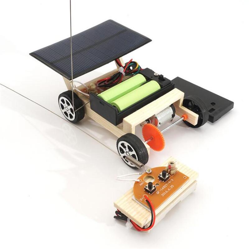 [해외]DIY 솔라 원격 제어 차량 자동차 조립 조립 RC 장난감 과학 모델 교육 완구 지능 지수 크리스마스 선물/DIY Solar Remote Control Vehicle Car Wooden Assembly RC Toys Science Model Educational
