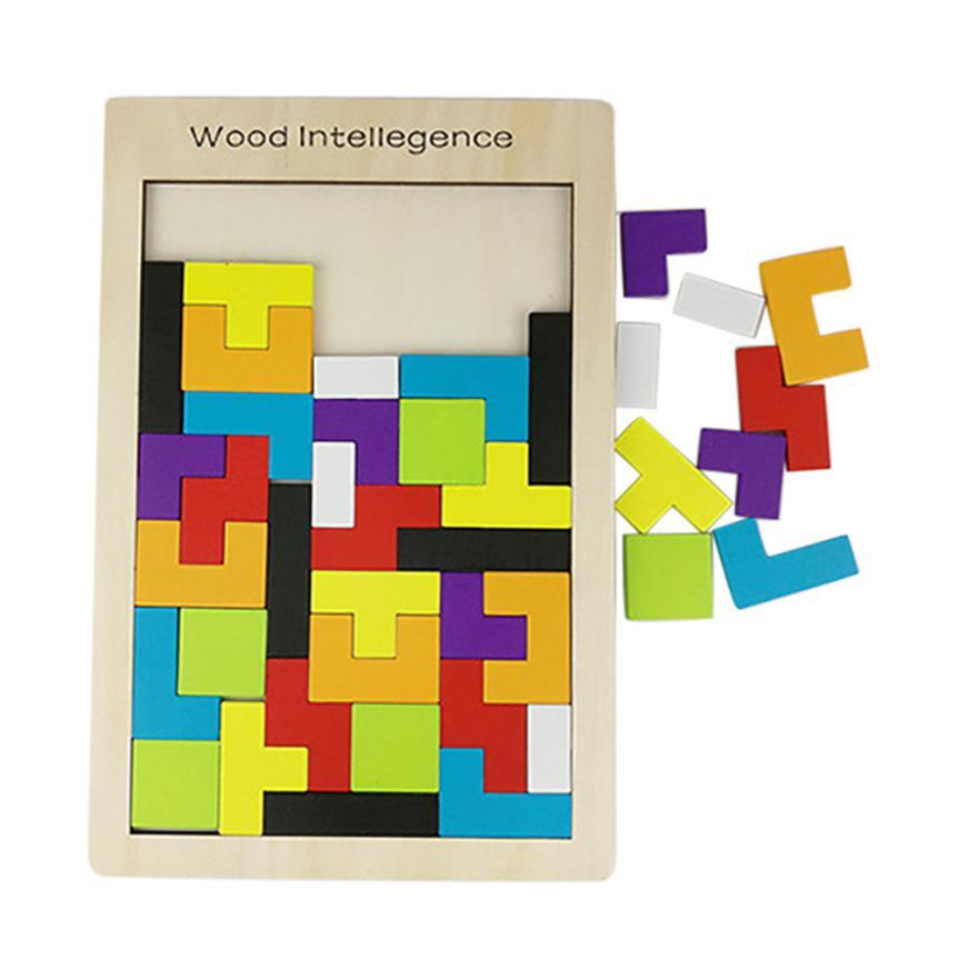 [해외]재미있는 나무 장난감 두뇌 게임 테트리스 퍼즐 장난감 어린이 J6132/Funny Wooden Toys Brain Game Tetris Puzzle Toys For Children J6132