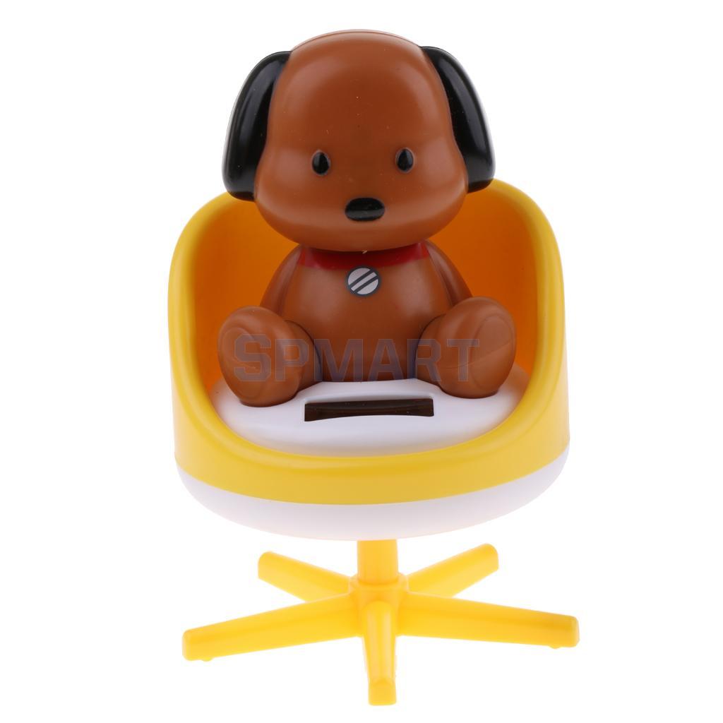 [해외]태양 전원 춤을 끄덕 의자에 동물 강아지 강아지 모델 애완 동물 장난감 자동차 홈 장식 장식품 선물/Solar Powered Dancing Nodding Animal Puppy Dog on chair Model Pet Toy Car Home Decoration