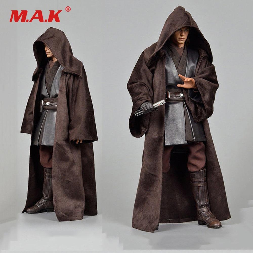 """[해외]1/6 스케일 업그레이드 사용자 정의 외투 코트 12 인치 HT Anakin Figure Modle 12 """"액션 피규어 남성 바디 피겨 모델 완구/1/6 Scale  Upgrade Custom Version Cloak Coat Fit 12\"""