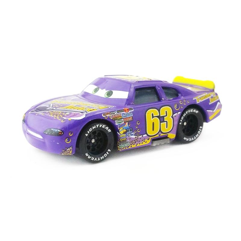 [해외]Disney pixar cars no. 63 transberry juice 금속 다이 캐스트 장난감 자동차 1:55 느슨한 브랜드의 새로운 재고 및 무료 배송