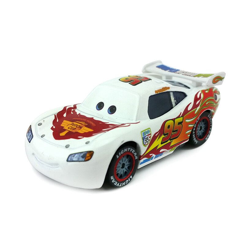 [해외]Disney Pixar Cars White Lightning McQueen Metal Diecast Toy Car 1:55 Loose Brand New In Stock & /Disney Pixar Cars White Lightning McQueen Met